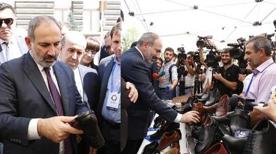 Փաշինյանը խոստացավ անձամբ գովազդել հայկական արտադրության կոշիկը